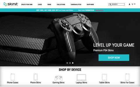 Screenshot of Home Page skinit.com - Skinit   Custom Phone Cases, Gaming Skins & Laptop Decals - captured July 10, 2016