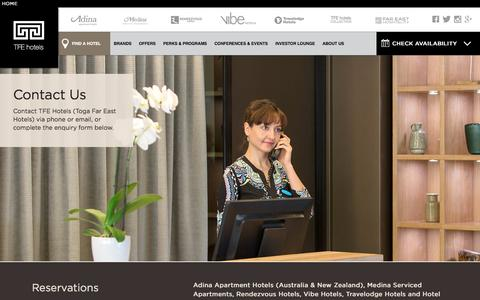 Screenshot of Contact Page tfehotels.com - TFE Hotels – Contact Us - captured March 8, 2017