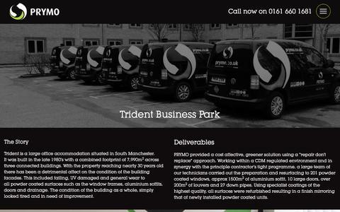 Screenshot of Case Studies Page prymo.co.uk - Trident Business Park - Prymo - captured July 10, 2017