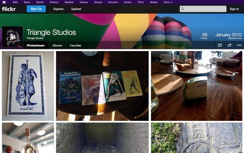 Screenshot of Flickr Page flickr.com - Flickr: Triangle Studios' Photostream - captured Oct. 25, 2014