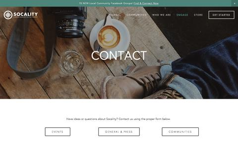 Screenshot of Contact Page socality.org - contact — Socality - captured Jan. 11, 2016