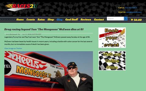 Screenshot of Blog races2u.com - Blog | Racing for Parties and Events | Team Building | Trade Shows - captured Sept. 21, 2018