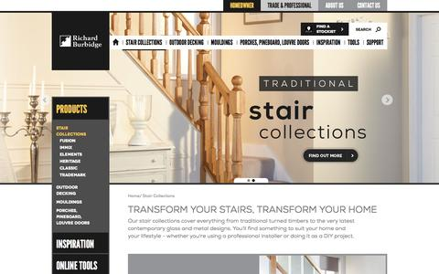 Screenshot of Products Page richardburbidge.com - The UK's Leading Supplier of Staircases For Homes - captured Sept. 19, 2014