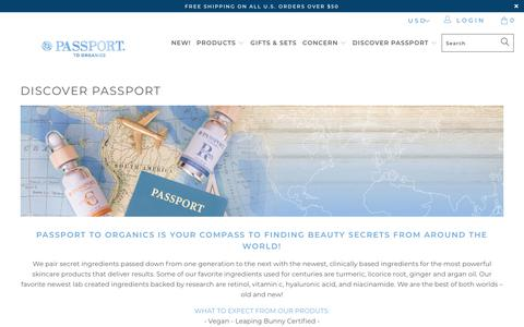 Screenshot of About Page passporttoorganics.com - Discover Passport - Passport to Organics - captured Nov. 4, 2018
