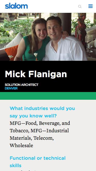 Screenshot of Team Page  slalom.com - Mick Flanigan | Slalom