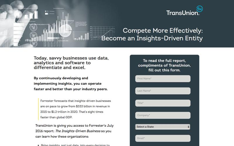 Become an Insights-Driven Entity | TransUnion