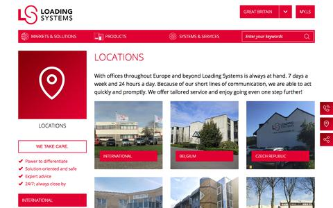Screenshot of Locations Page loading-systems.com - Locations | Loading Systems - captured Sept. 26, 2018