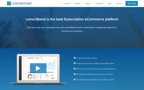 Screenshot of Landing Page lemonstand.com - Ross says… - captured Dec. 5, 2017
