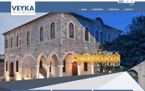 Screenshot of Home Page veyka.com - VEYKA İnşaat & Mühendislik – Construction & Engineering | - captured Jan. 26, 2015