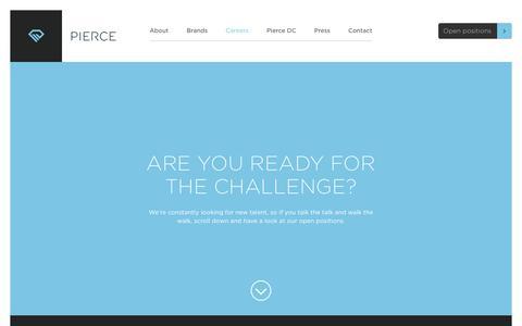 Screenshot of Jobs Page pierce-ecom.com - Careers | PIERCE - Petrolheads in E-Commerce - captured Sept. 28, 2018