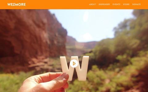 Screenshot of Home Page wezmore.com - Wezmore - captured Sept. 5, 2015