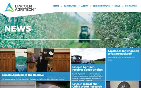 Screenshot of Press Page lincolnagritech.co.nz - News » Lincoln Agritech - captured Aug. 14, 2017