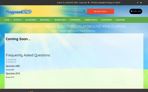 Screenshot of FAQ Page playgroundking.com - Frequently Asked Questions | Playground King Florida - captured May 1, 2017