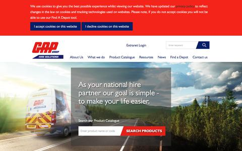 Screenshot of Home Page gap-group.co.uk - GAP Hire Solutions | Equipment Hire | GAP Group - captured Sept. 19, 2018