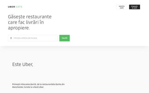 Livrări de mâncare în Manchester   UberEATS