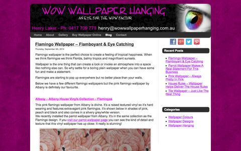 Screenshot of Blog wowwallpaperhanging.com.au - Blog | Wallpaper Installation Gold Coast & Brisbane | Wow Wallpaper Hanging - captured Oct. 9, 2014