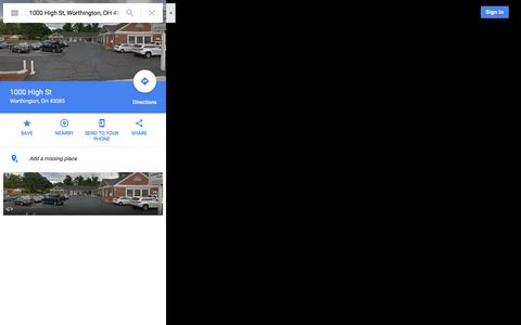 Screenshot of Maps & Directions Page google.com - 1000 High St - Google Maps - captured Dec. 31, 2016