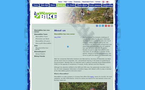 Screenshot of About Page wannabike.com - WannaBike is a biking company on Curacao and is  for sale | Wannabike Curacao Bike Tours - captured Oct. 26, 2017