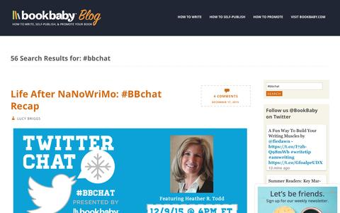 Screenshot of Blog bookbaby.com - You searched for #bbchat | BookBaby Blog - captured Feb. 27, 2017