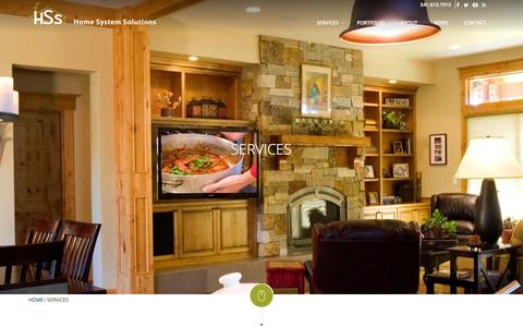 Screenshot of Services Page hssbend.com - Services | Home System Solutions - captured Jan. 31, 2016
