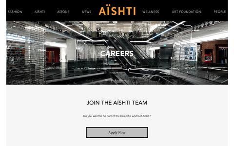Screenshot of Jobs Page aishti.com - Aïshti  - Careers - captured Dec. 28, 2017