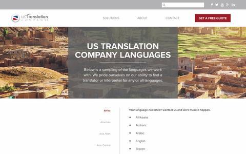 Languages – US Translation Company