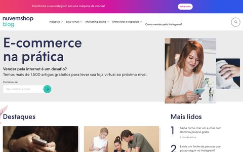 Screenshot of Blog nuvemshop.com.br - Blog da Nuvemshop - captured July 21, 2019