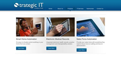 Screenshot of Products Page it-strategic.com - Products - Strategic IT Consulting - captured Oct. 7, 2014