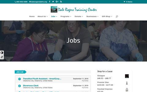 Screenshot of Jobs Page drtc.org - Jobs at DRTC | Dale Rogers Training Center - captured Oct. 7, 2018