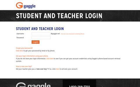screenshot of login page gagglenet login to gagglenet safe online