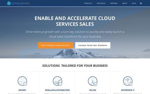 Screenshot of Home Page computenext.com - Cloud Brokerage And Marketplace Platform | ComputeNext - captured July 4, 2016