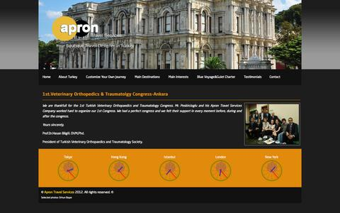 Screenshot of Testimonials Page aprontravel.com - Apron Travel:: Testimonials - captured Oct. 4, 2014