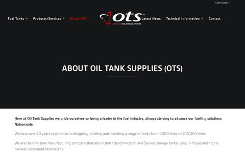 Screenshot of About Page oiltanksupplies.co.uk - About OTS - Oil Tank Supplies Ltd. - captured July 13, 2018