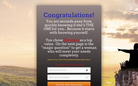 Screenshot of Landing Page personallifemedia.com - RM-Survey - All - Male - Freedom | Personal Life Media - captured Aug. 18, 2016
