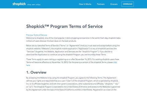 Terms Of Service | shopkick