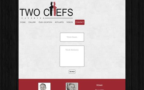 Screenshot of Contact Page twochefs.co.za - Contact - captured Oct. 6, 2014