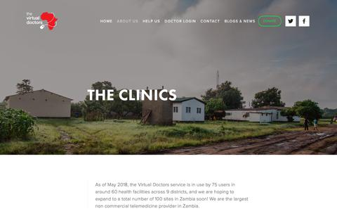 Screenshot of Locations Page virtualdoctors.org - The Clinics - captured Sept. 25, 2018