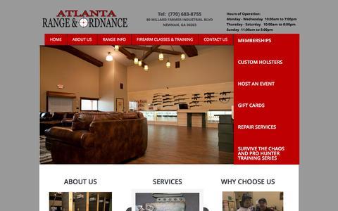 Screenshot of Home Page atlantagunrange.com - Home - captured Nov. 21, 2016