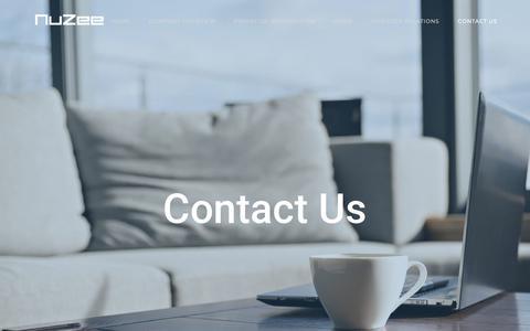 Screenshot of Contact Page mynuzee.com - CONTACT US – Nuzee - captured Oct. 18, 2018