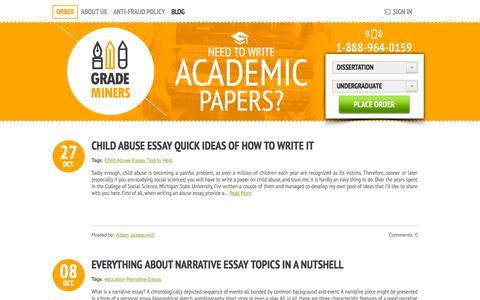 Screenshot of Blog grademiners.com - Blog | Grademiners.com - captured Oct. 28, 2014