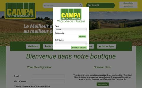 Screenshot of Login Page campa.net - Campa. Connectez-vous - captured July 10, 2016