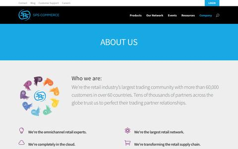 Screenshot of About Page spscommerce.com - About us | SPS Commerce - captured July 15, 2015