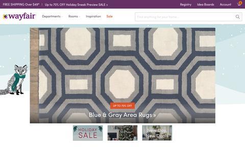 Screenshot of Home Page wayfair.com - Wayfair.com - Online Home Store for Furniture, Decor, Outdoors & More | Wayfair - captured Oct. 19, 2016