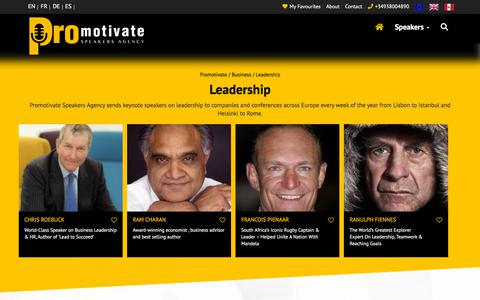 Screenshot of Team Page pro-motivate.com - Best Keynote Leadership Speakers Europe- ProMotivate Speakers Agency - captured Sept. 25, 2018