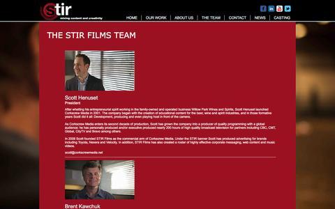 Screenshot of Team Page stirfilms.net - Stir Films Team   Corporate Video   Calgary, Alberta - captured Dec. 16, 2016