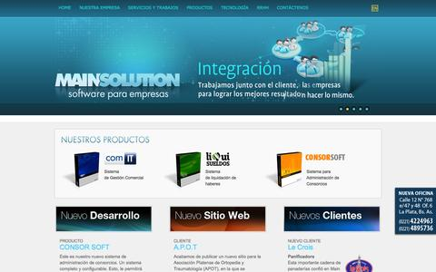 Screenshot of Home Page main-solution.net - .: MAIN SOLUTION:. - captured Sept. 30, 2014