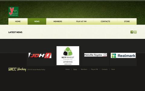 Screenshot of Press Page ymcchockey.com - News - captured Sept. 30, 2018