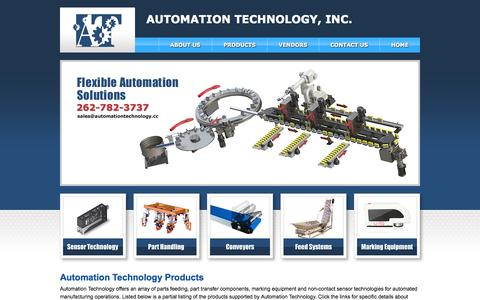 Screenshot of Products Page automationtechnology.cc - Products – Automation Technology, Inc. - captured Oct. 4, 2014