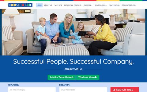 Screenshot of Jobs Page roomstogo.com - Rooms To Go Careers - captured Sept. 8, 2017