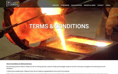 Screenshot of Terms Page peaseandcurren.com - Terms & Conditions - Pease Curren - captured Jan. 26, 2016